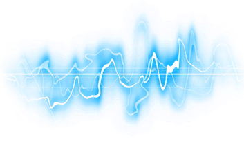 blue electric audio waves